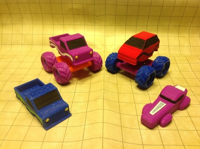 Mini Monster Truck/Car/Smart With Suspension - REMIX 3D Print 121907