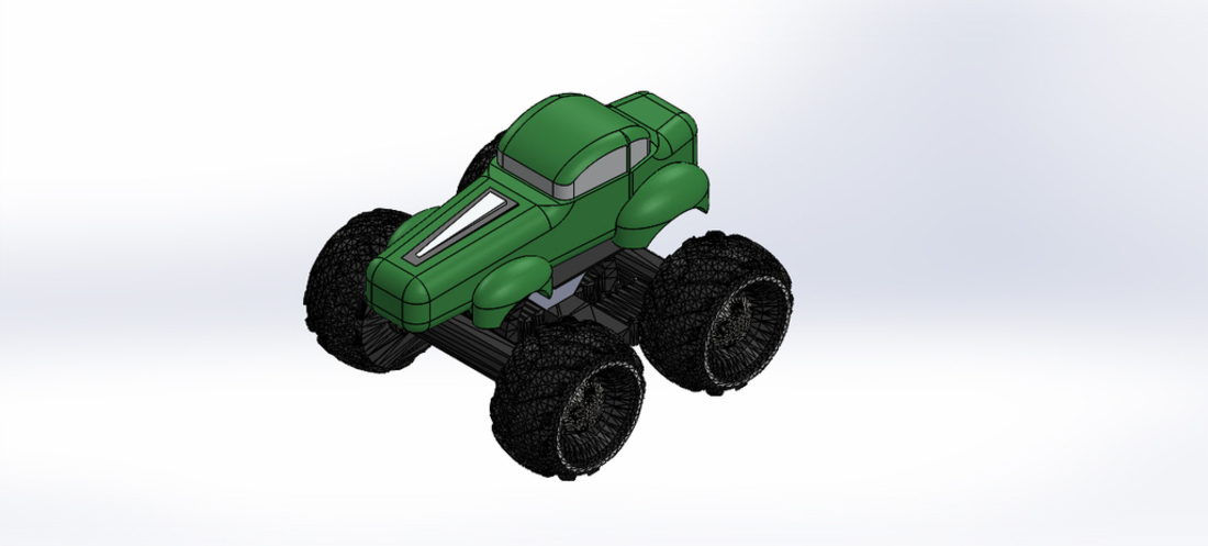 Mini Monster Truck/Car/Smart With Suspension - REMIX 3D Print 121909