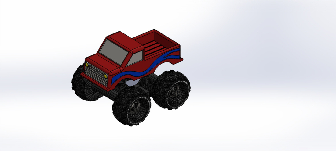 Mini Monster Truck/Car/Smart With Suspension - REMIX 3D Print 121910