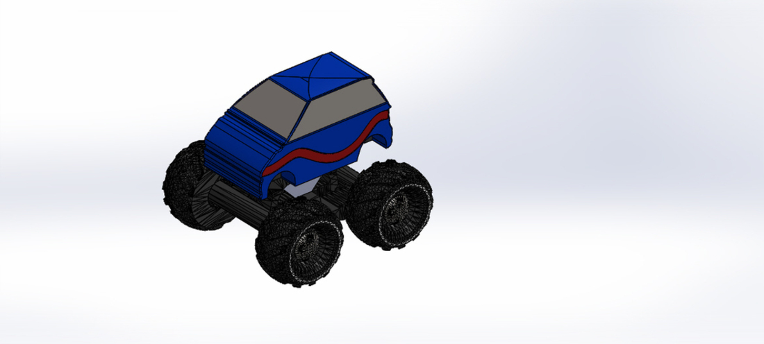 Mini Monster Truck/Car/Smart With Suspension - REMIX 3D Print 121911