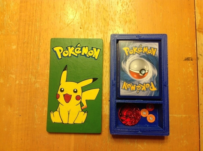 Pokemon Deckbox with Coin/Damage Token Storage 3D Print 121921