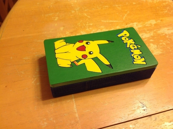 Pokemon Deckbox with Coin/Damage Token Storage 3D Print 121924