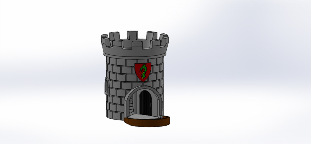 Dice Tower with Secret Chamber for Dice Storage II 3D Print 121947