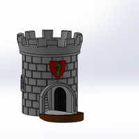 Small Dice Tower with Secret Chamber for Dice Storage II 3D Printing 121947