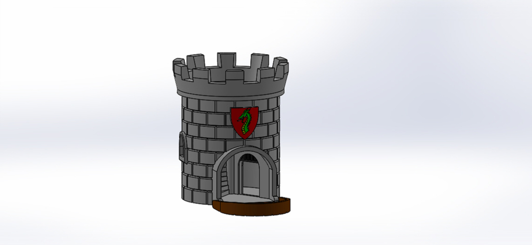 Dice Tower with Secret Chamber for Dice Storage II 3D Print 121948