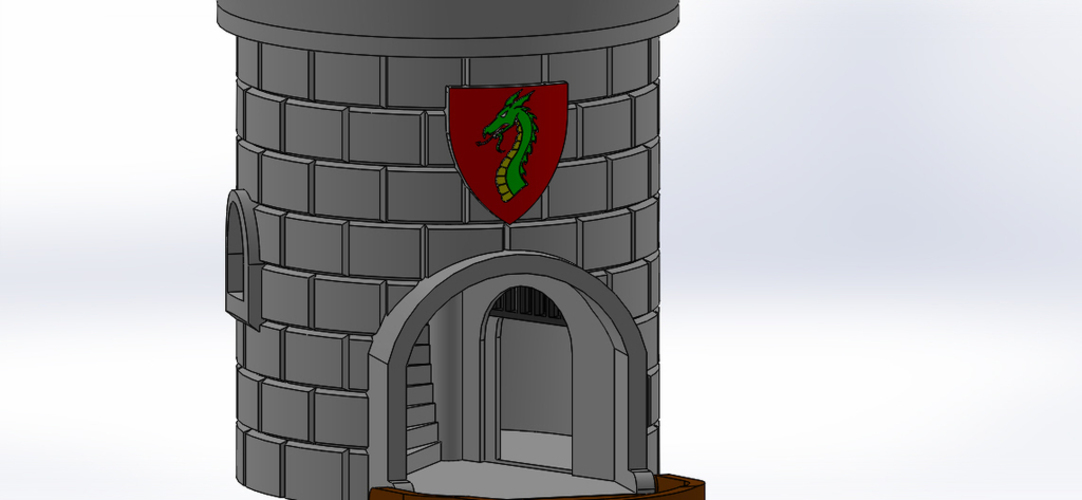 Dice Tower with Secret Chamber for Dice Storage II 3D Print 121950