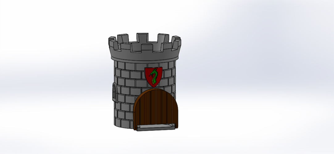 Dice Tower with Secret Chamber for Dice Storage II 3D Print 121951