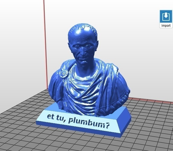 et tu, plumbum? - Julius Caesar Pencil Holder 3D Print 121954
