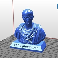 Small et tu, plumbum? - Julius Caesar Pencil Holder 3D Printing 121954
