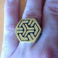 Small Ryo's Ring - Dark Matter - COSPLAY PROP 3D Printing 121967