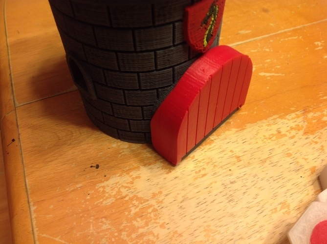Dice Tower with Secret Chamber for Dice Storage 3D Print 121981