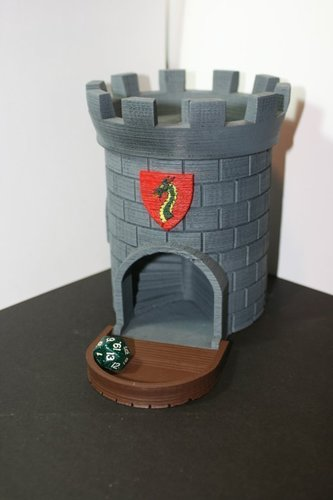 Dice Tower with Secret Chamber for Dice Storage 3D Print 121982