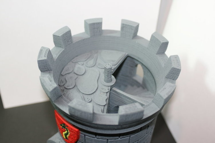 Dice Tower with Secret Chamber for Dice Storage 3D Print 121985