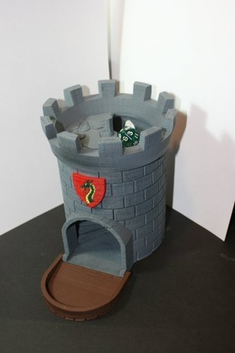 Dice Tower with Secret Chamber for Dice Storage 3D Print 121986