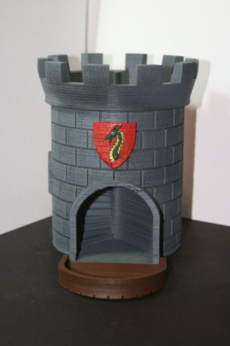 Dice Tower with Secret Chamber for Dice Storage 3D Print 121987