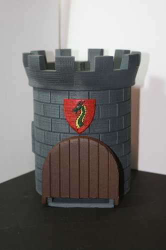 Dice Tower with Secret Chamber for Dice Storage 3D Print 121988