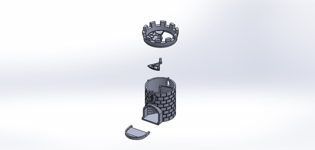 Dice Tower with Secret Chamber for Dice Storage 3D Print 121990