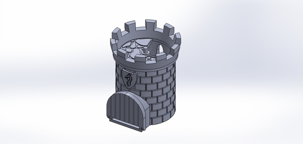 Dice Tower with Secret Chamber for Dice Storage 3D Print 121991
