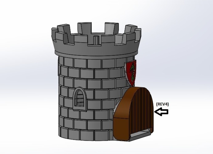 Dice Tower with Secret Chamber for Dice Storage 3D Print 121992
