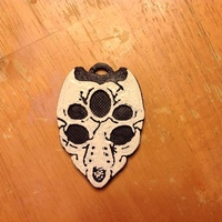 Small Terraria - Moon Lord Skull Keychain/Pendant 3D Printing 122004