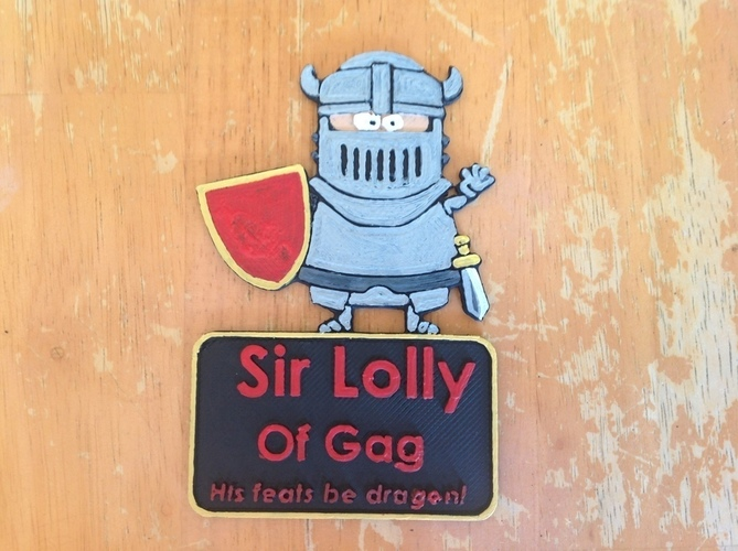 Sir Lolly of Gag 3D Print 122006