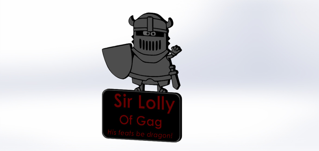 Sir Lolly of Gag 3D Print 122007