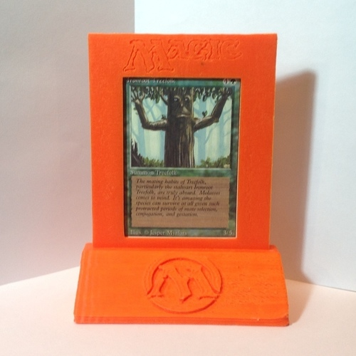 Magic The Gathering - Trophy/Card Display 3D Print 122043