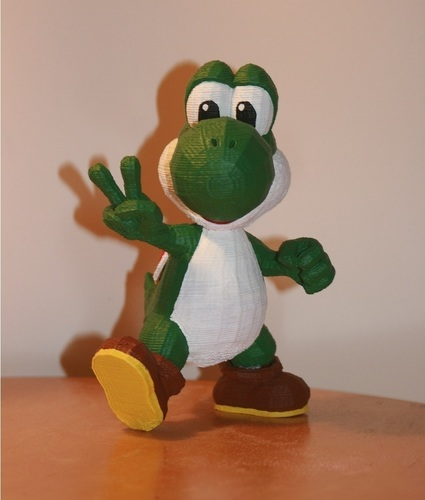 Yoshi Trophy with custom supports 3D Print 122052