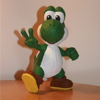 Small Yoshi Trophy with custom supports 3D Printing 122052