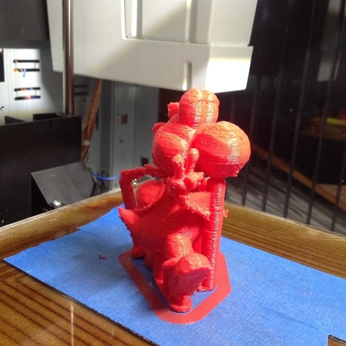 Yoshi Trophy with custom supports 3D Print 122055