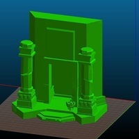 Small Lone Wolf - Ruins - Game Level Scenery 3D Printing 122064