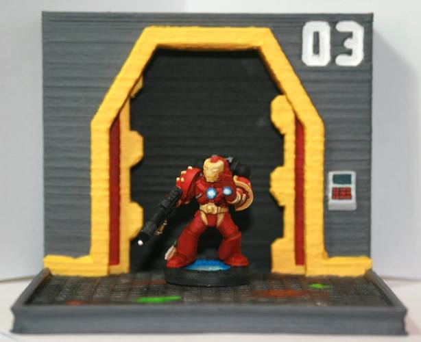 Bitz - Iron-man Marine Head 3D Print 122079