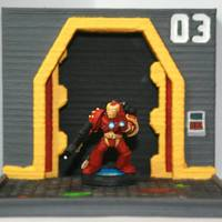 Small Bitz - Iron-man Marine Head 3D Printing 122079