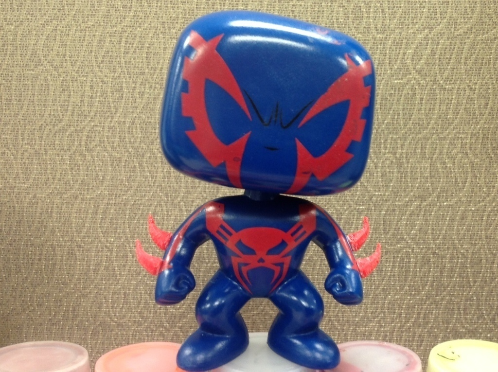 3d printed spiderman 2099 funko bobblehead upgrade by brimstone326 pinshape