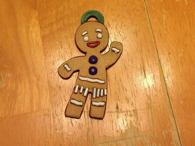 Gingerbread Man Ornament 3D Print 122094