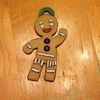 Small Gingerbread Man Ornament 3D Printing 122094