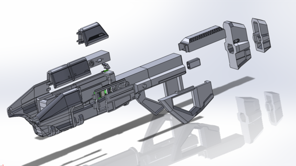 Medium Halo assault rifle 3D Printing 122129