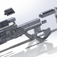Small Halo assault rifle 3D Printing 122129