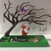 Small Jewellery Tree 3D Printing 122201