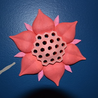 Small Honey Comb Flower Wall Art 3D Printing 122264