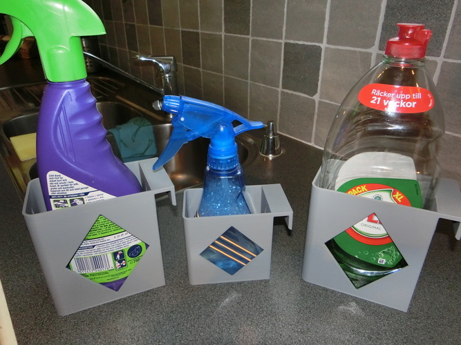 Kitchen bottle boxes 3D Print 122314