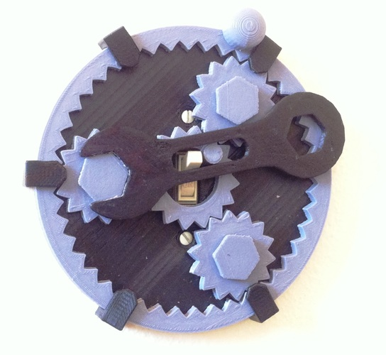 Gear Light Switch Cover 3D Print 122327