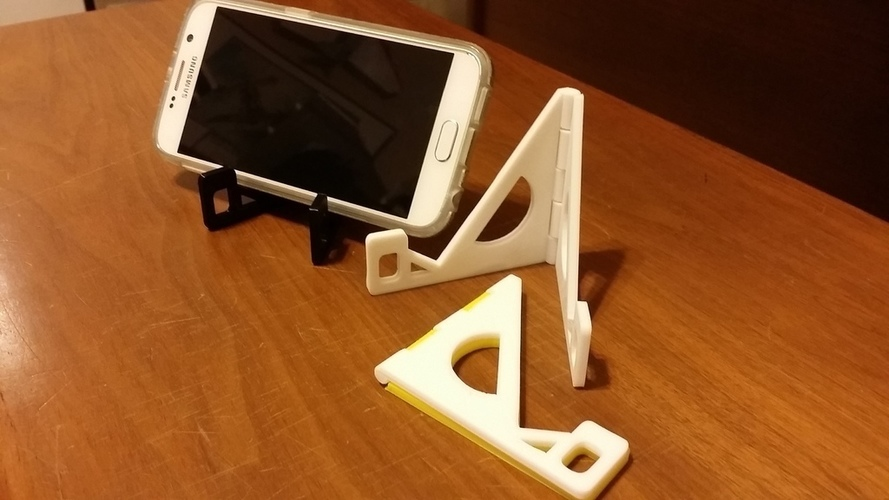 Folding Hinged Phone Stand (for large phones) 3D Print 122350