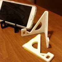 Small Folding Hinged Phone Stand (for large phones) 3D Printing 122350