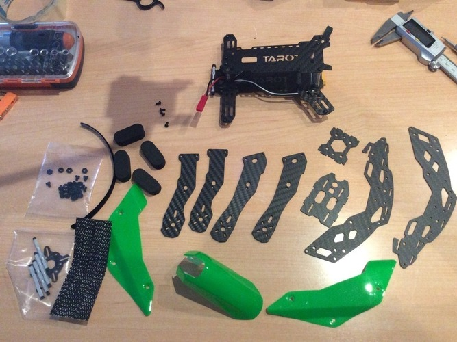 Arms for Tarot TL250H suitable for 6 inch props and 23XX motors 3D Print 122436