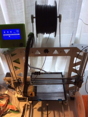 Filament holder for p3steel with bearings 3D Print 122494