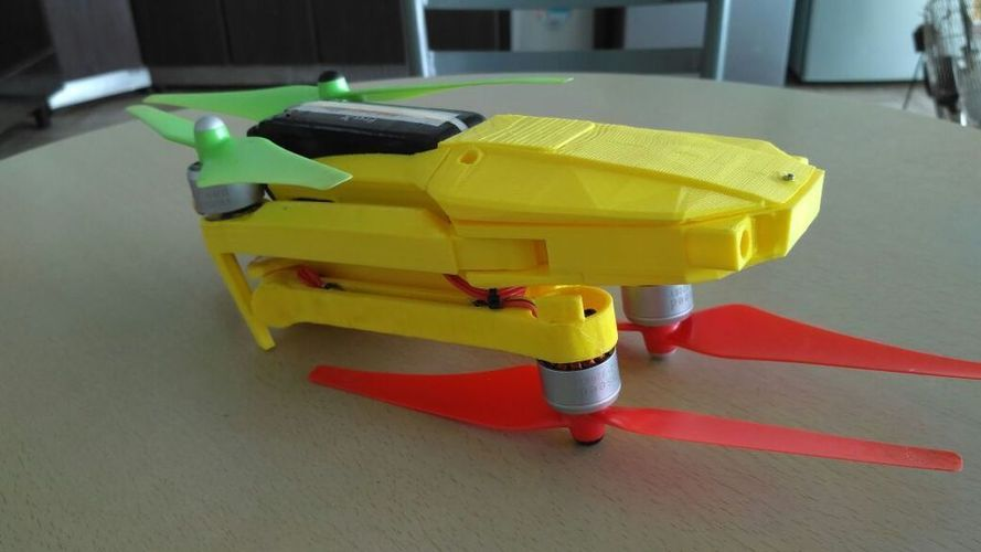 Foldable drone frame (Mavic look like, body & head alternative)  3D Print 122655
