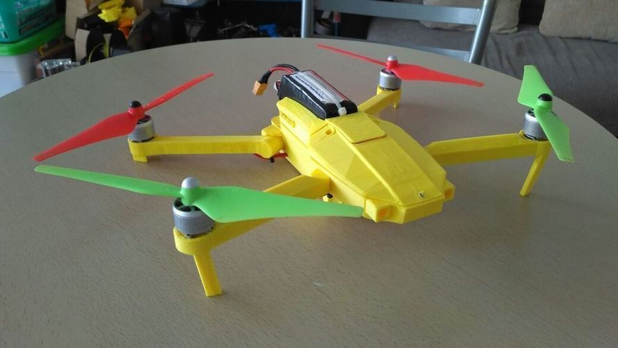 Foldable drone frame (Mavic look like, body & head alternative)  3D Print 122656