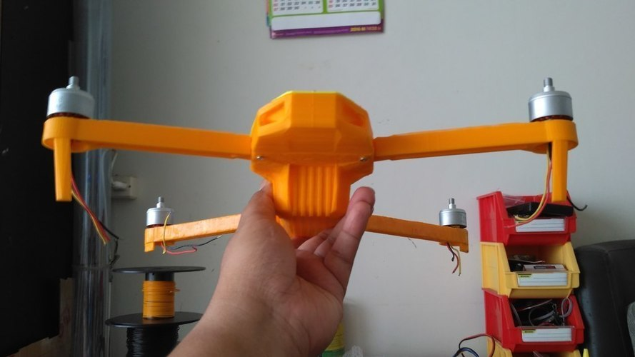 Foldable drone frame (Mavic look like) 3D Print 122662