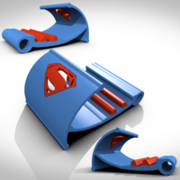 Small Superman support tablette/smartphone 3D Printing 122734